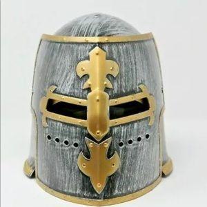 Medieval Knight Crusader Costume Helmet Plastic
